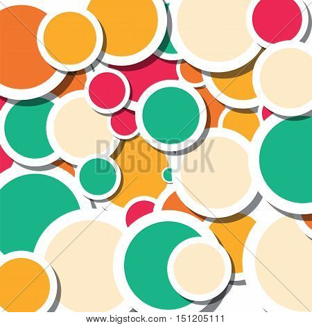 bright summer color circles abstract vector design background illustration