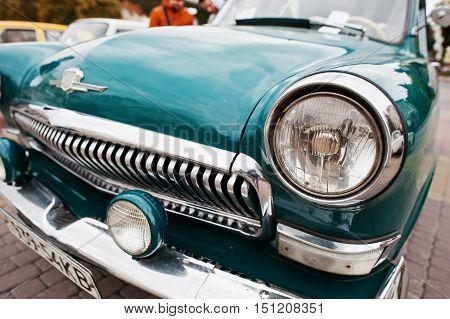 Tarnopol, Ukraine - October 09, 2016: Classic Retro Car Green Gaz-21, Third Series Of Volga, Nicknam