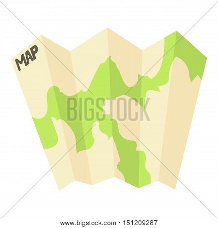 Map icon. Flat illustration of map vector icon for web.
