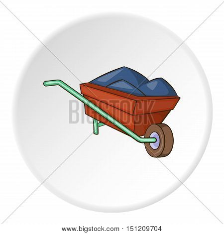 Wheelbarrow icon. Flat illustration of wheelbarrow vector icon for web