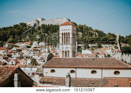 Beautiful old City of Hvar in Croatia