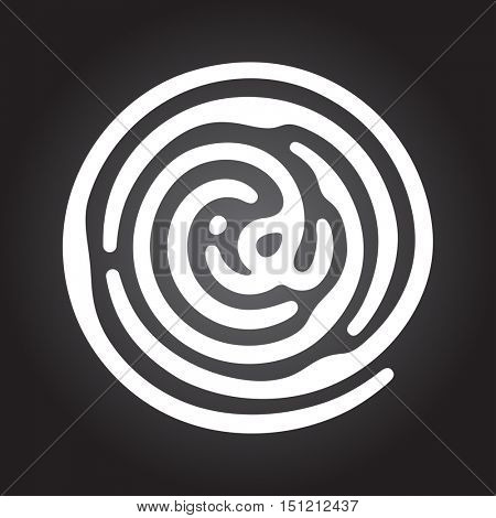 Information and identification fingerprint icon