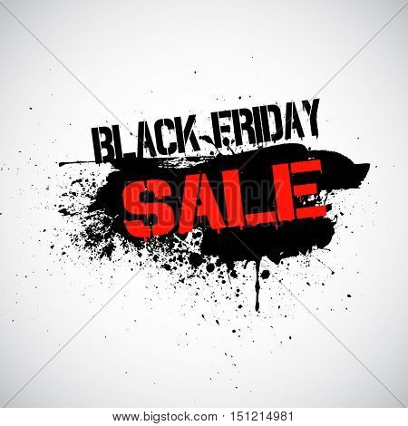 Grunge background for Black Friday sale