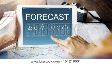 Forecast Weather Climate Temperature Concept