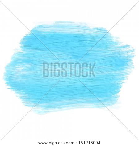Abstract background with blue acrylic painted smear