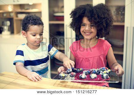 Bakery Homemade Kids Leisure Hobby Activity Concept
