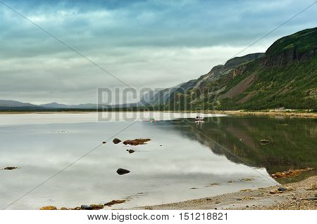 the coast of Anarjohka river Finnmark Norway