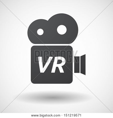 Isolated Film Camera Icon With    The Virtual Reality Acronym Vr