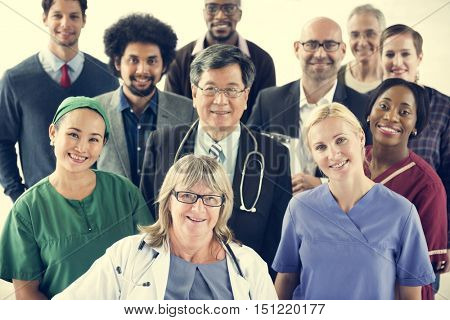 Doctor Cooperation Teamwork Happiness Medication Concept