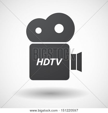 Isolated Film Camera Icon With    The Text Hdtv