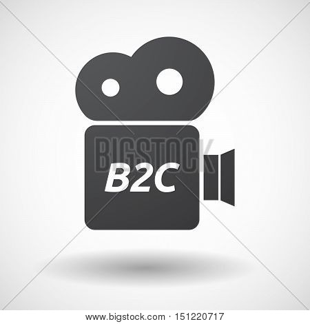 Isolated Film Camera Icon With    The Text B2C