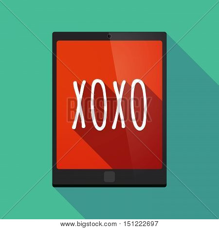 Long Shadow Tablet Pc With    The Text Xoxo