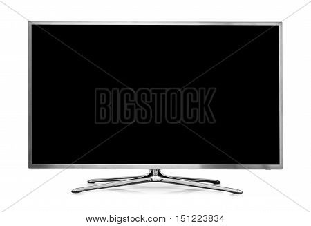 big led tv isolated on white background