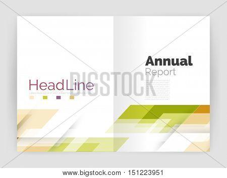 Geometric business annual report templates, modern brochure flyer template. Vector illustration