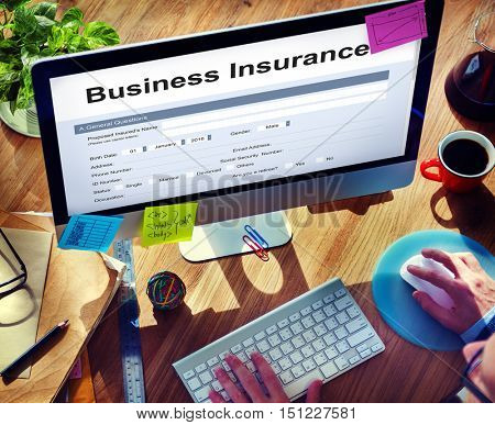 Business Insurance Benefit Document Concept