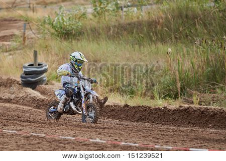 GREVENBROICH, GERMANY - OCTOBER 01, 2016: Qualification race of Youth MX Final Race