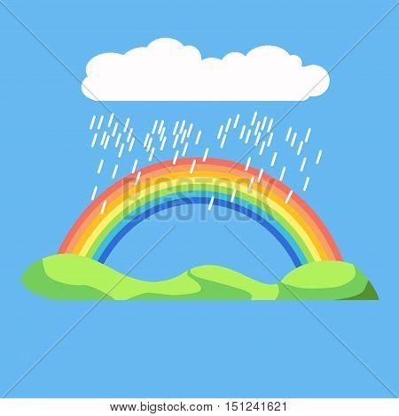 Rainbow icon flat. LGBT concept image. Homosexual minority icon. Vector Illustration