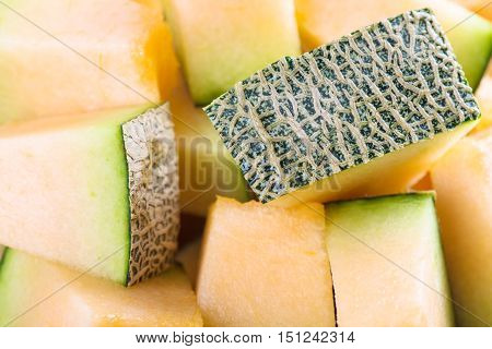 Fresh melon sliced background. Melon sliced. Fresh melon. Melon background. Delicious melon.