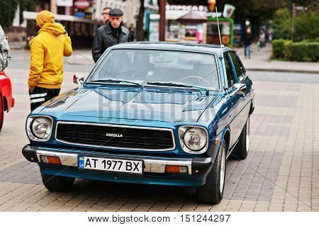 Tarnopol, Ukraine - October 09, 2016: Classic Retro Car Corolla E30 Liftback Was The Third Generatio