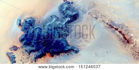 blue island,abstract landscapes of deserts of Africa ,Abstract Naturalism,abstract photography deserts of Africa from the air,abstract surrealism,mirage in desert,abstract expressionism,fantasy colors