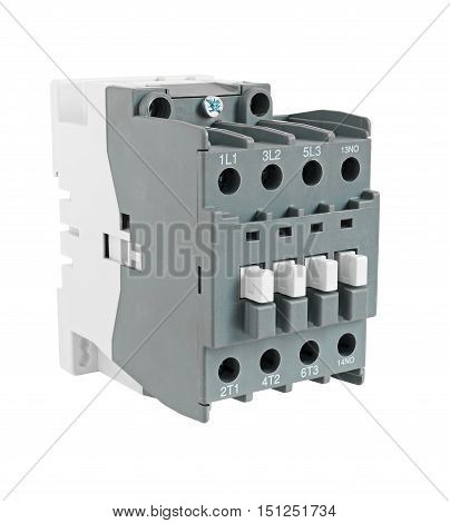 Electrical Magnetic Contactor isolated on white background