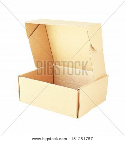 Paper Box Open Isometric View isolated on white background
