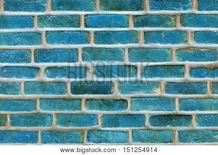 grooved brick texture of blue color closeup for background and for wallpaper