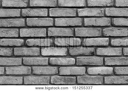 grooved brick texture of gray color closeup for background and for wallpaper