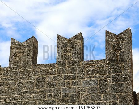 Battlements Of The Tower Of The Medieval Castle