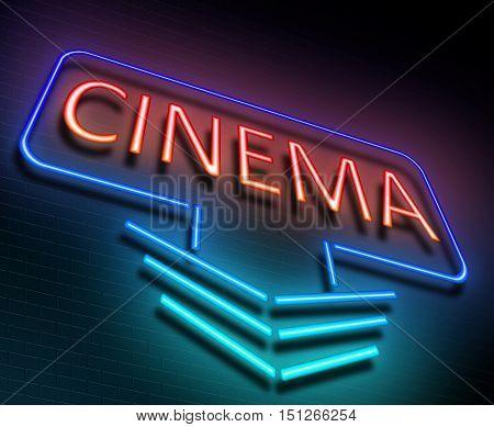 Cinema Sign Concept.