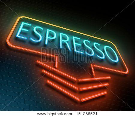 Espresso Sign Concept.