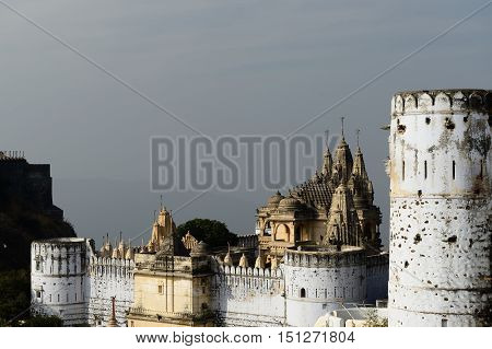 Holy Palitana top in the Gujarat state in India