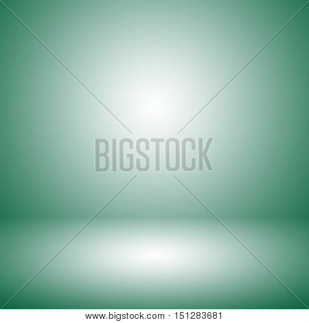 dark green gradient abstract background / green room studio background / dark tone / for used background or wallpaper