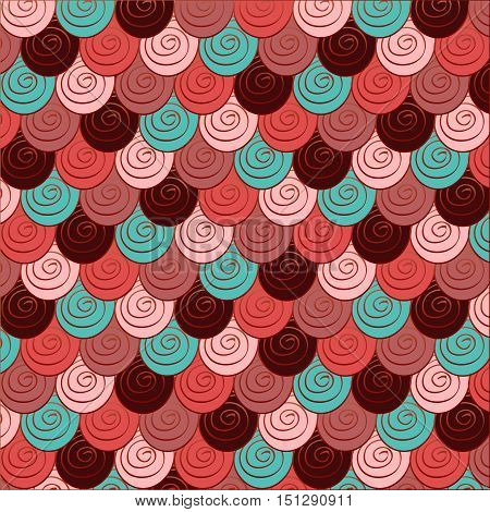 Colorful background with abstract roses. Illustration 10 version