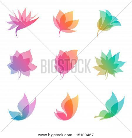 Pastel Nature. Elements For Design. Vector Illustration.