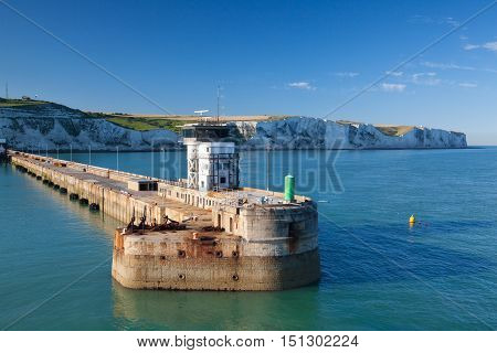 The Port of Dover is the nearest English port to France at just 34 kilometres (21 mi) away.