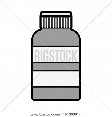 silhouette remedy bottle with tap and label vector illustration