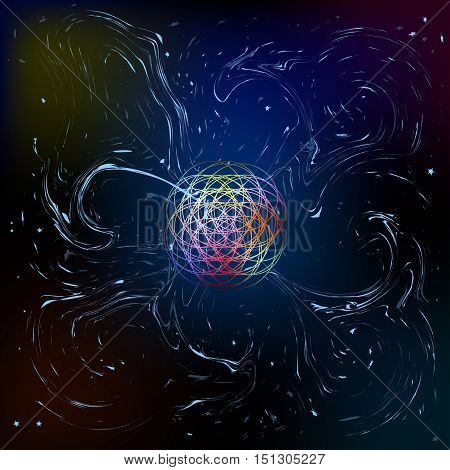 anomaly. phenomenon. Background . cosmic mystery. Art. Vector illustration