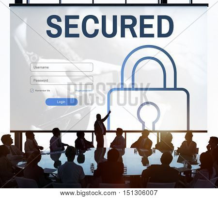 Secured Log In User Password Register Concept