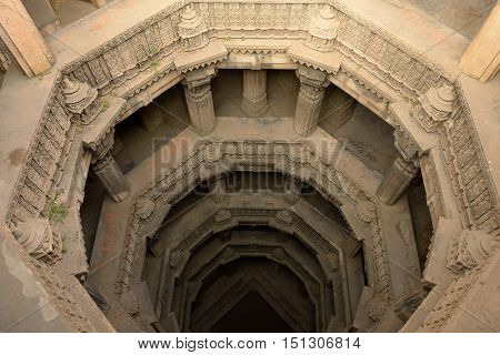 Dada Hari ni Vav stepwell is a Hindu water building in the village of Adalaj close to Ahmedabad town in the Indian state of Gujarat.