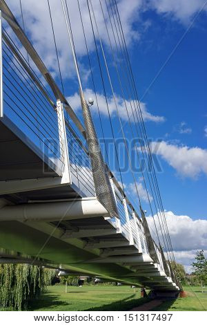 Christchurch footbridge over the River Thames at Reading in Berkshire.