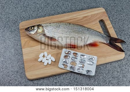 Fish And Tablets, Medicines Of Fish.