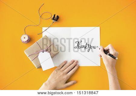 Thank You Thanks Gratitude Gift Appreciate Concept