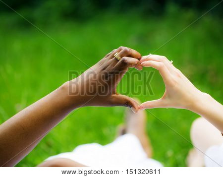 Hands Make Heart Shape Gesture
