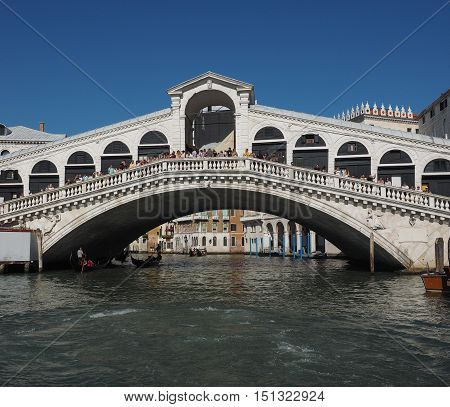 Rialto Bridge In Venice