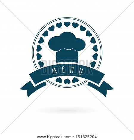 Chef menu logo vector icon emblem illustration