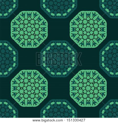 octagon star seamless pattern vector background template