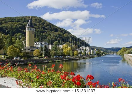 Bad Ems, spa town at the lahn river in germany