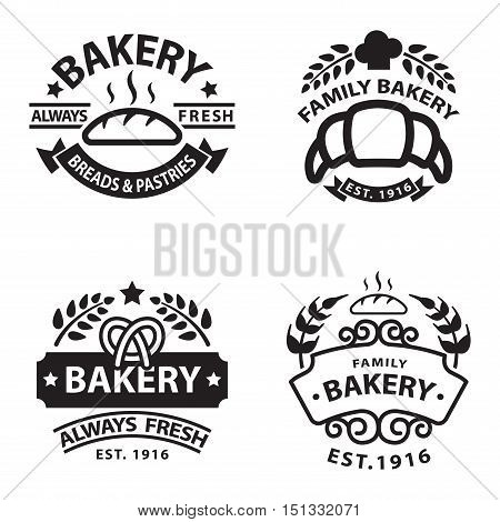 Bakery badgesand logo icon thin modern style vector collection set. Retro bakery labels, logos and badges icons. Bakery badges design elements isolated on white background
