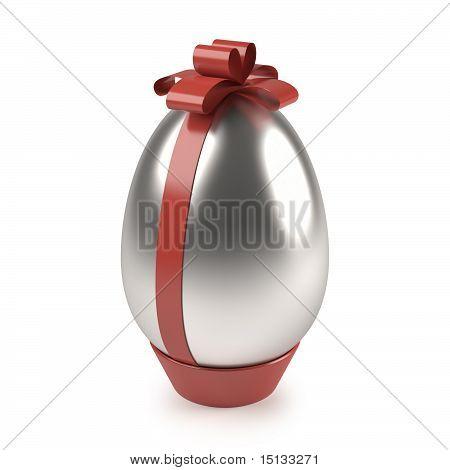 silver easter egg
